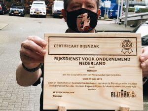 Certificaat Bijendak bij RVO